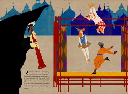 Extrait du livre Petrouchka illustré par Beppe Giacobbe